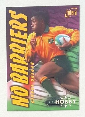 1996 Futera Rugby Union Hobby No Barriers insert card #NB3 George Gregan