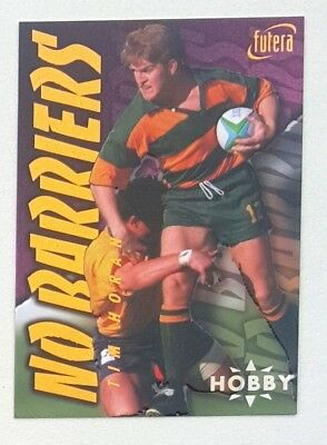1996 Futera Rugby Union Hobby No Barriers insert card #NB4 Tim Horan