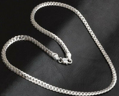 925 Sterling Silver Necklace Womens Mens Opulent Large 5mm Snake Curb Chain D543