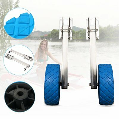 Stainless Steel Boat Transom Launching Wheel Dolly For Inflatable Boat AU