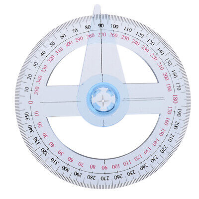 360 Degree Plastic Pointer Protractor Ruler Angle Finder Swing Arm School Office
