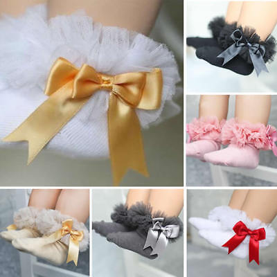 Baby Girls Toddler Infant Kids Sweet Lace Ruffle Frilly Ankle Short Socks 0-6Y