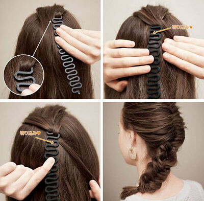 Styling French Braid Plaiting Twist Easy Roller Hook Bun Maker Hair Accessories