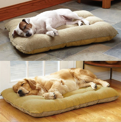Large Pet Dog Cat Bed Cushion Square Mat Pad Cozy Winter Warm Soft House