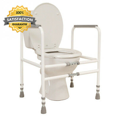 NRS Healthcare M00870 Free Standing Toilet Frame - Width & Height Adjustable...