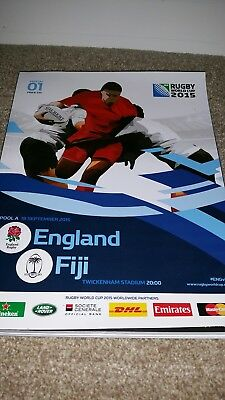 Rugby world cup 2015 programme game 1England v Fiji