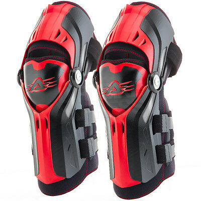 New Adult Acerbis Gorilla Knee Guards Brace Motocross Enduro ATV Quad Pair