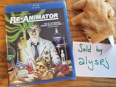 Re-Animator (Blu-ray Disc, 2012) NEW! 1985 Classic! H.P. Lovecraft Horror