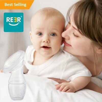 ReeR Best Suction Silicone Breastfeeding Manual Breast Pump Milk Saver with Lid