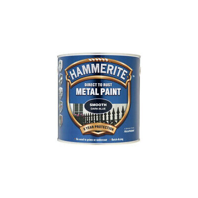 Hammerite Direct To Rust Smooth Dark Blue Metal Paint - 2.5Ltr