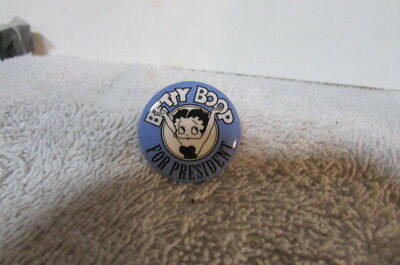 Vintage Betty Boop For Presedent Pin Back Button