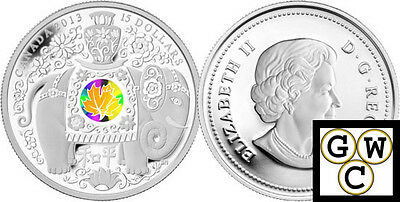 2013 'Maple of Peace' $15 Silver Coin 1oz .9999 Fine (13209)