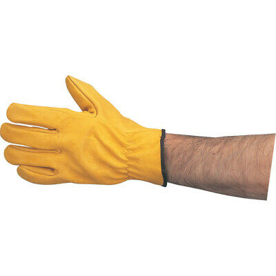 Tuffsafe Yellow Cowhide Unlined Drivers Gloves - Size 10