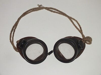 Vintage WILLSON Safety Goggles Motorcycle Steampunk Clear Lens