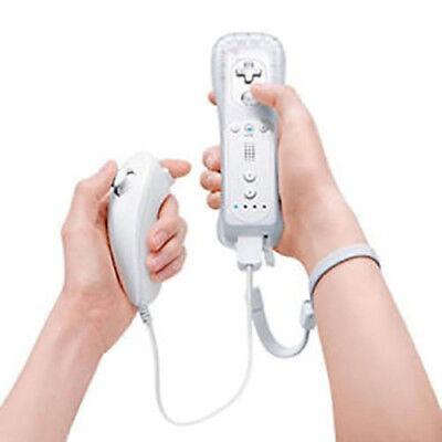 Wireless Remote Controller + Nunchuk for Nintendo Wii / Wii U - White