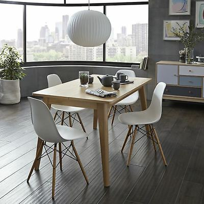 Charles Ray Eames Eiffel Inspired White DSW Dining Chair Retro in White 4 Chairs