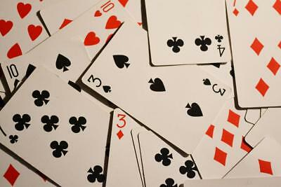 Old Photo.  Close-up of Playing Cards - gambling