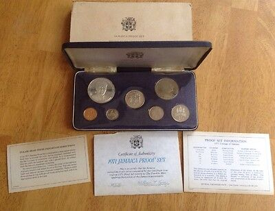 Jamaica 1971 Proof Coin Set w/ Case, Minted at the Franklin Mint