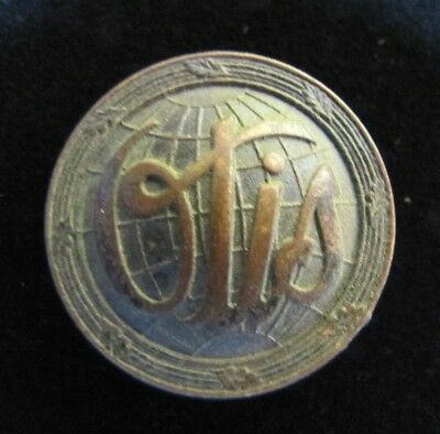 Old Otis Elevator Small Button Nameplate Tag building architectural hardware