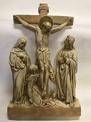 Beautiful set of 14 stations of the cross in a antique stone finish