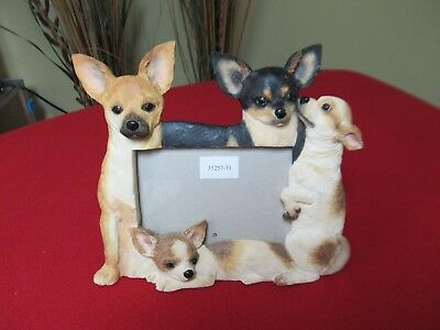 Chihuahua Figurine Dog Breed Table Photo Frame for 4 x 6 Photo Beautiful