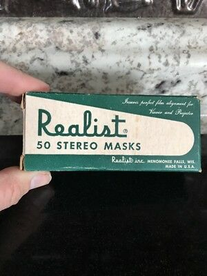 Vintage Stereo Realist masks - Lot Of 35 21-20 In Box