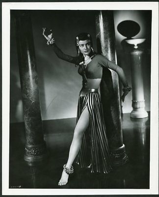 MILADA MLADOVA Original Vintage 1949 HOMMEL Stamp LEGGY Photo SIREN OF ATLANTIS