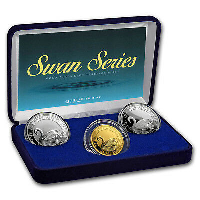 2017 Australia Swan 3-Coin Set Proof/BU