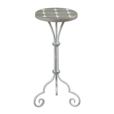 Sterling Industries 51-10135 Ayer Grey and White Plant Stand