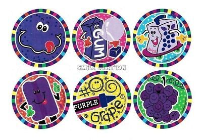 12 Grape Scented Scratch & Sniff Stickers Kid Party Goody Loot Bag Favor Supply