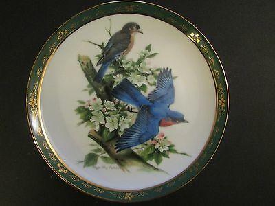 Collector Plate Danbury Mint BLUEBIRDS The Songbirds Roger Troy Peterson
