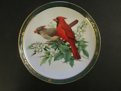 Collector Plate Danbury Mint CARDINALS The Songbirds Roger Troy Peterson