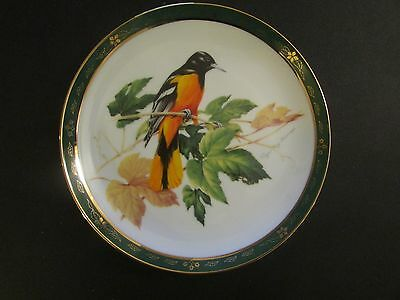 Collector Plate Danbury Mint BALTIMORE ORIOLE The Songbirds Roger Troy Peterson