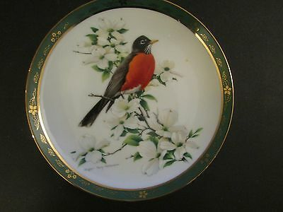 Collector Plate Danbury Mint ROBIN The Songbirds Roger Troy Peterson