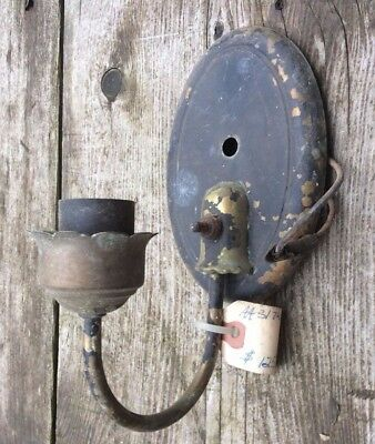 Antique Oval Candle Wall Sconce