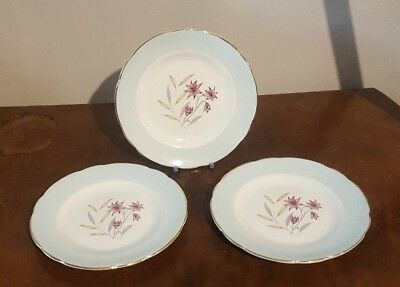 3 Sutherland Fine Bone China 6ins Side Plates    (pt37a)