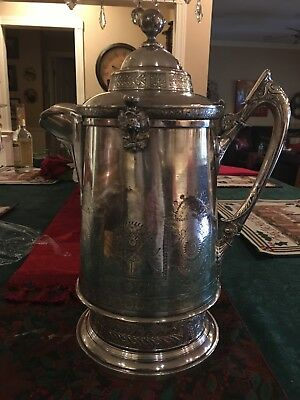 Antique 1888 Reed And barton silverplate water Pitcher