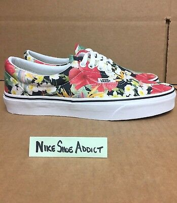 942b5cf646b58d Vans Era Digi Aloha Black True White Canvas VN00018FID6 Floral Authentic  Low Top