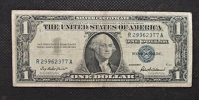 One Dollar Silver Certificate George Washington Series 1957 R29962377A