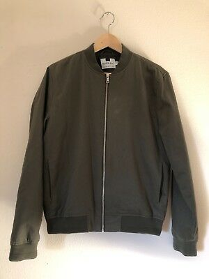 Men's Topman Bomber Jacket Olive Green Medium