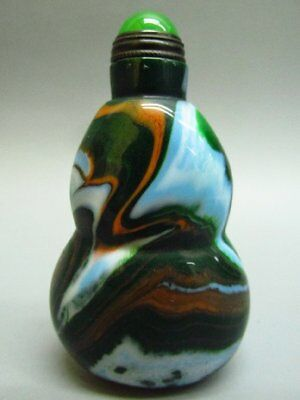 Chinese Gourd Shape Peking Are Glass Snuff Bottle