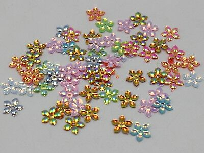 2000 Mixed Color 5-Petal Flower loose sequins Paillettes 9mm sewing Wedding