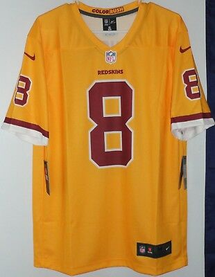 ... new zealand new nike washington redskins kirk cousins jersey gold  yellow rush mens xl large d5f80 4f79c34e1