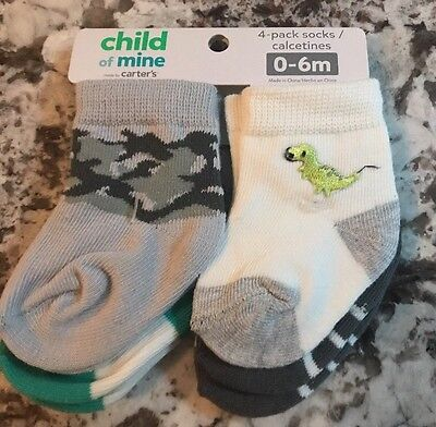 NWT BABY BOY 4 PAIR PACK OF CARTERS SOCKS SIZE 0-6m