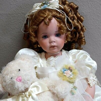 "Donna RuBert RUSTIE Tammie 34"" Porcelain Life Like Doll 248/750 COA Retails $450"