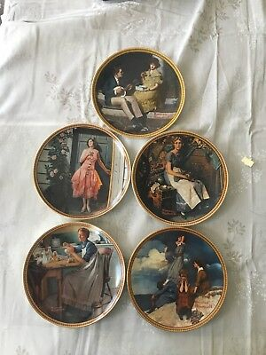Rediscovered Women Norman Rockwell Plates~Lot Of 9