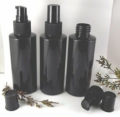 Black Bottle Empty 120ML Serum Lid Skincare Container Packaging Oil Cream Lotion