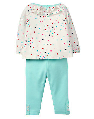 NWT Gymboree Arctic Pals Confetti Print Top Leggings Outfit Set 2PC Baby Girl
