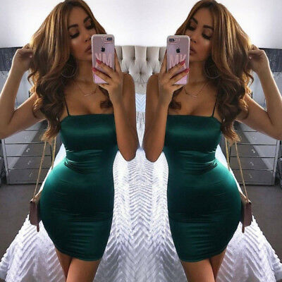 Women's Sleeveless Bandage Bodycon Evening Party Cocktail Club Short Mini Dress