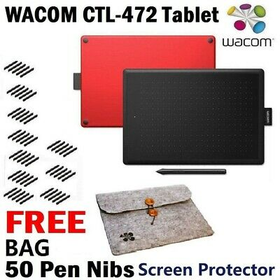 One By Wacom CTL-472 Digital Pen Drawing Tablet Graphic PC/MAC/WINDOWS Graphic